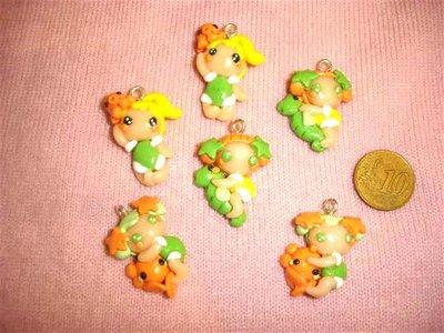 FIMO - kawaii - doll - LE FATE DEL MARE - un ciondolo a scelta mod.2 - per orecchini collane - bomboniere - compleanno