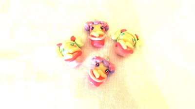 FIMO - kawaii - doll - LE FATE DEL MARE - un ciondolo a scelta mod.4 - per orecchini collane - bomboniere - compleanno