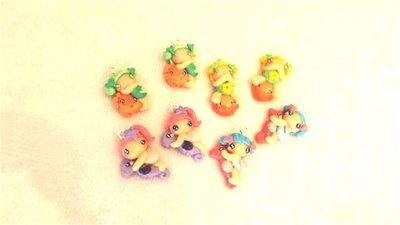 FIMO - kawaii - doll - LE FATE DEL MARE - un ciondolo a scelta mod.5 - per orecchini collane - bomboniere - compleanno