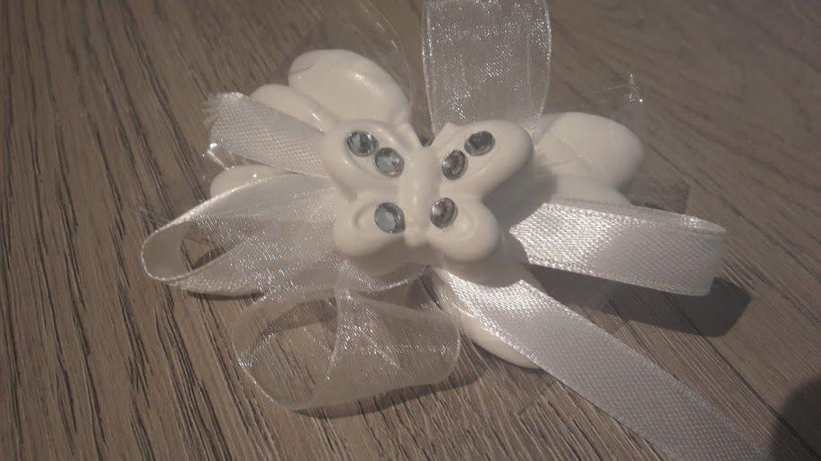 Bomboniera con gessetto profumato farfalla bianca - CreazionidiMarty