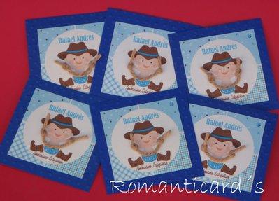 Biglietto d'auguri perzonalizzati motivo Cowboys by Romanticards