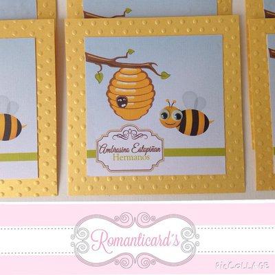Biglietto d'auguri perzonalizzati motivo api miele by Romanticards