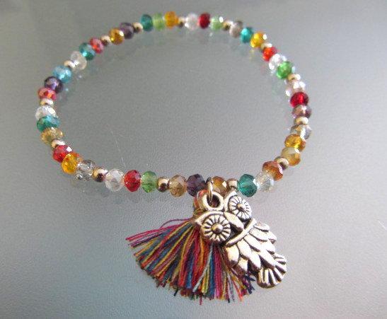 Braccialetto elastico multicolore