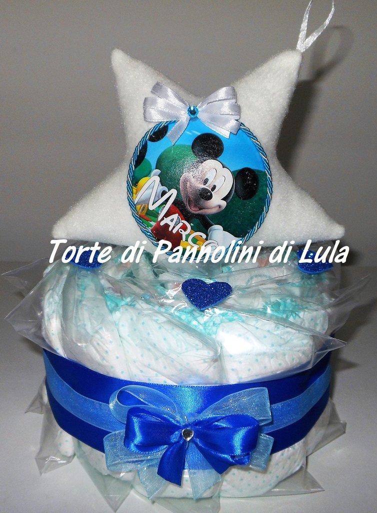 Torta di Pannolini Pampers + Fuoriporta - idea regalo, originale ed utile, per nascite, battesimi
