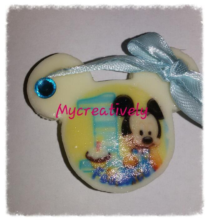 Bomboniera calamita primo compleanno baby topolino