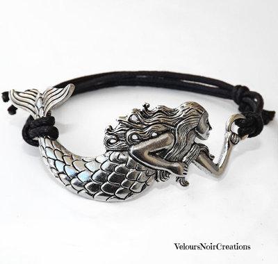 Bracciale sirena in argento tibetano