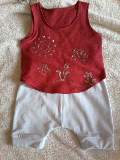 Completo pantaloncino e canotta tg 6-9 mesi