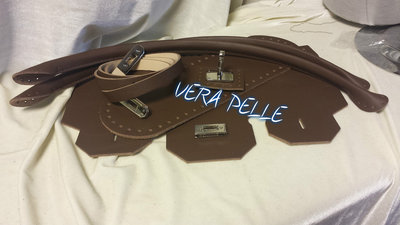 "Kit Patella birkin ""VERA PELLE"" marrone"