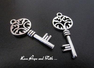 """Charm ciondolo  chiave """"Antichità"""" (27x11mm) (cod.0new)"""