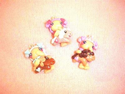 FIMO - kawaii - doll - FATINE e MINI PONY peluche   - un ciondolo a scelta per orecchini collane - bomboniere - compleanno