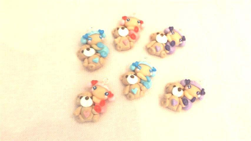 FIMO - kawaii - doll - FATINE e ORSETTI teddy bear    - un ciondolo a scelta per orecchini collane - bomboniere - compleanno