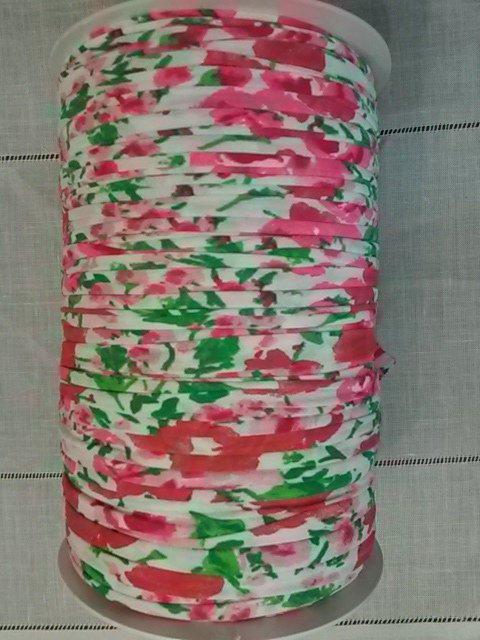 Rocca fettuccia in tulle  Fantasia floreale multicolor