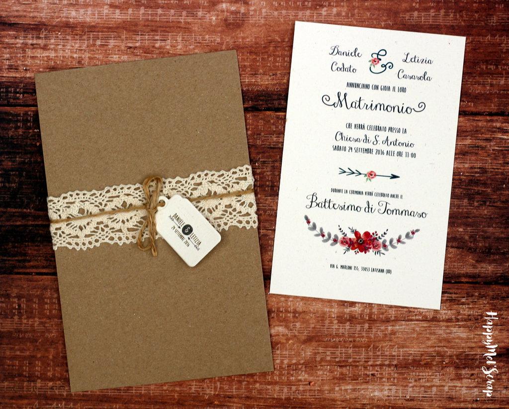 """Partecipazione di nozze """"Louisiana"""" (solo annuncio)"""