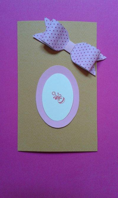 Card cartolina porta foto per nascita