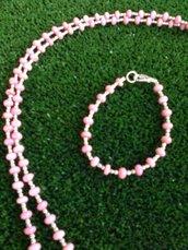 bracciale in corallo rosa