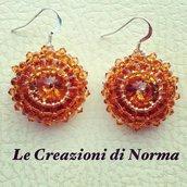 Orecchini con swarovski e twin beads