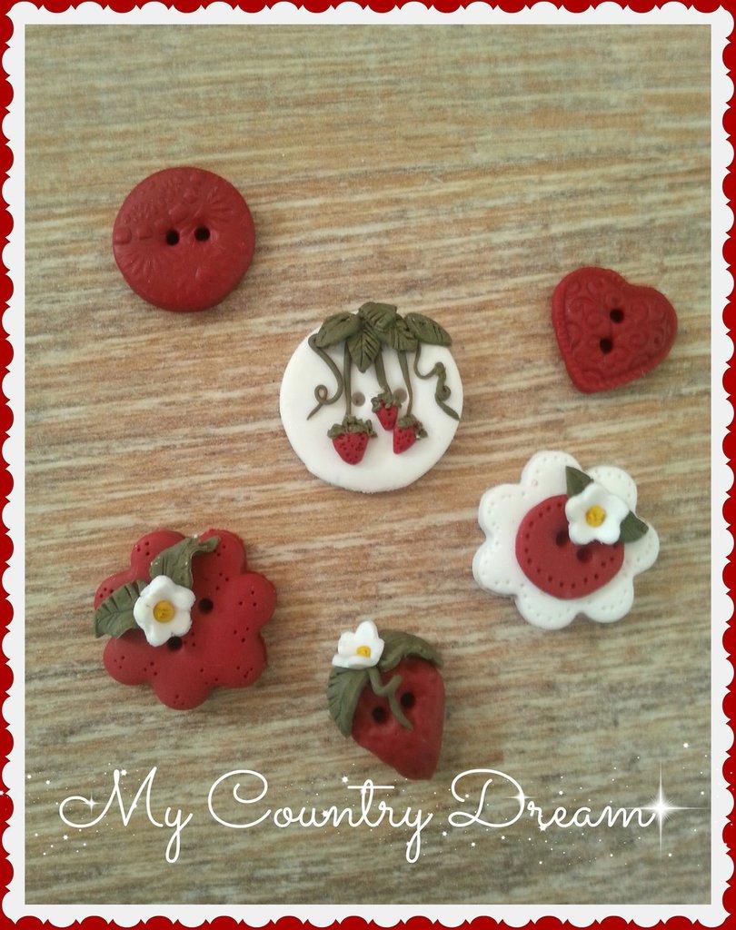 "Bottoni Artigianali ""strawberry"""