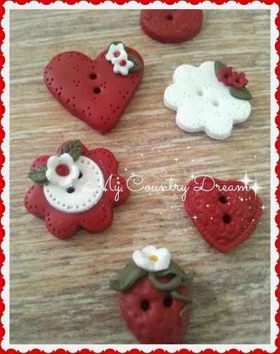 "Bottoni Artigianali ""Strawberry Field"""