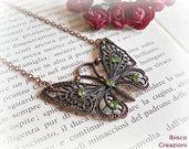 Collana con pendente in metallo - Papillon