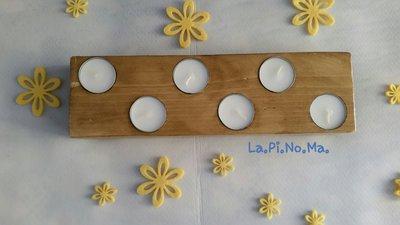 Portacandele in legno realizzato a mano