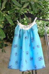 abito bambina azzurro