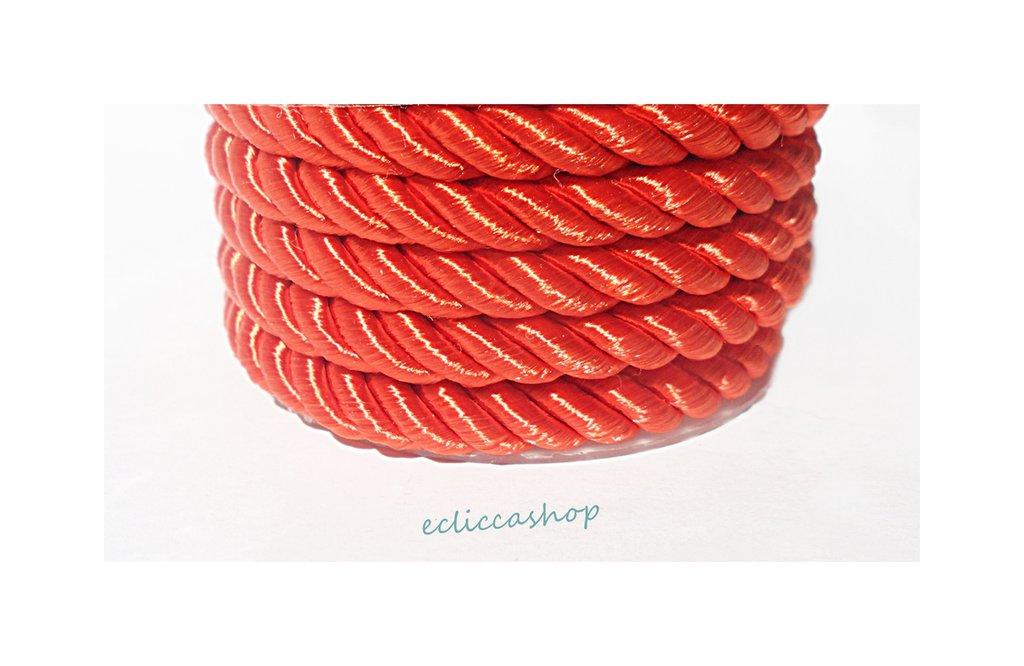 Cordoncino ritorto colore rosso da 4-5 mm 1.5 M