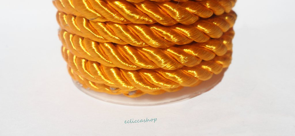 Cordoncino ritorto colore Giallo topazio da 4-5 mm 1.5 M