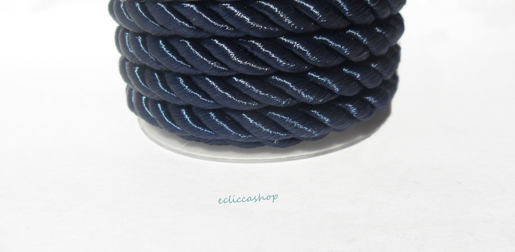 Cordoncino ritorto colore Blu notte da 4-5 mm 1.5 M