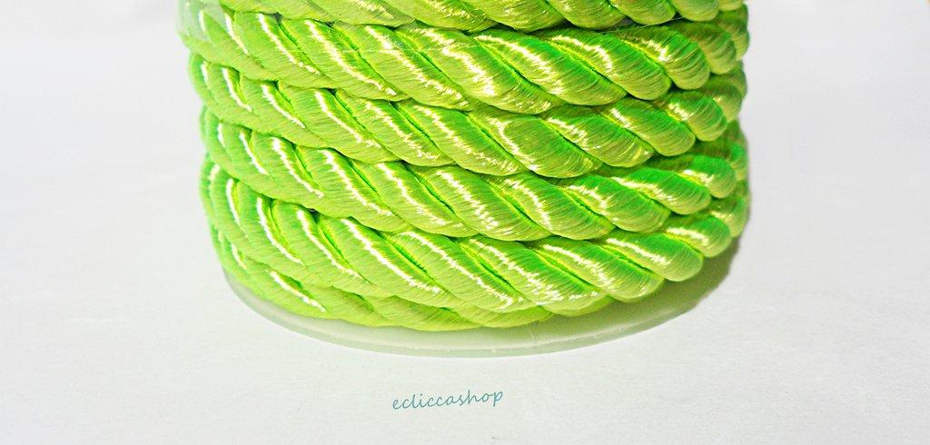 Cordoncino ritorto colore Verde da 4-5 mm 1.5 M
