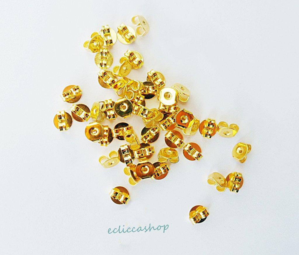 Ferma orecchini farfalline colore oro 5 x 4 mm 40 PZ