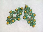 Orecchino verde giallo