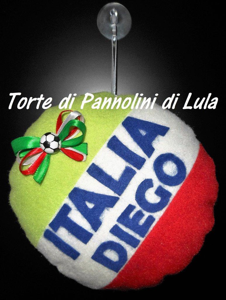 Cuscino Italia + nome personalizzabile fuoriporta camera, bimbo a bordo europei calcio