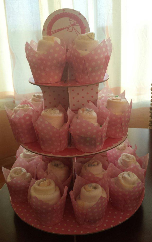 Cup cake pannolini alzatina mod 3