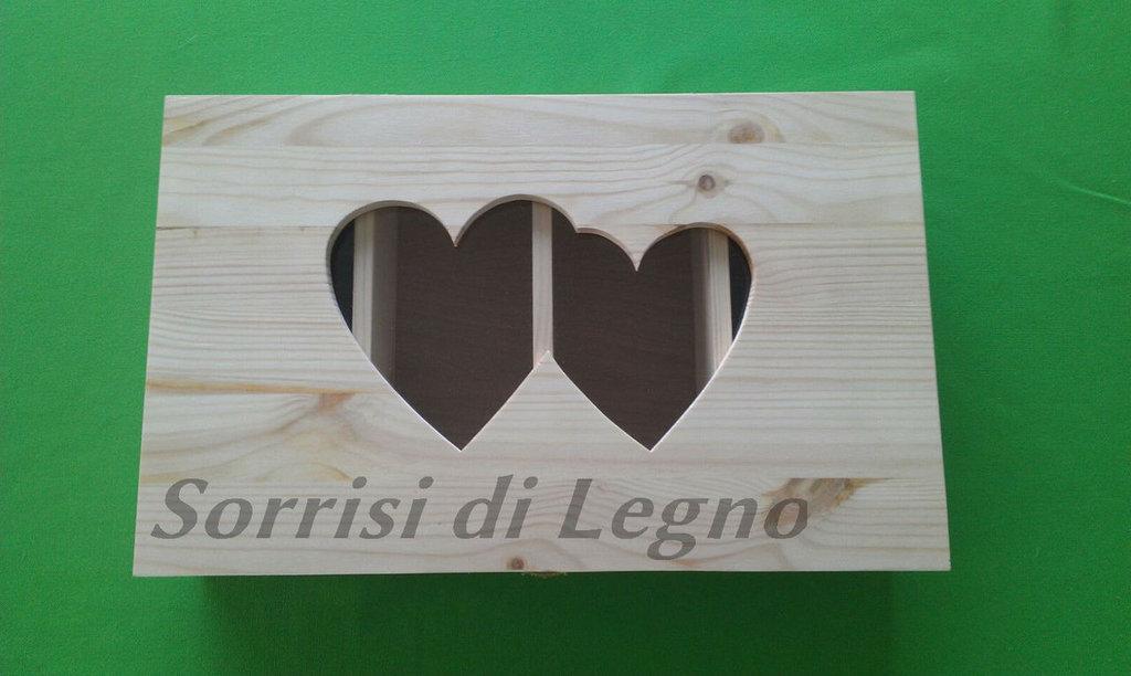 Scatola in legno porta-posate personalizzata