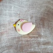 Bomboniera uccellino. cabochon decorazione nascita