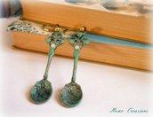 Orecchini pendenti con cucchiaini da tè - Alice Inspired