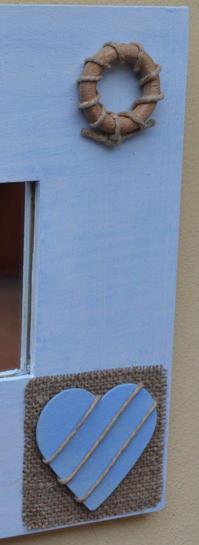 Specchio decorato a mano in stile marino per la casa e per te su misshobby - La mano sullo specchio ...