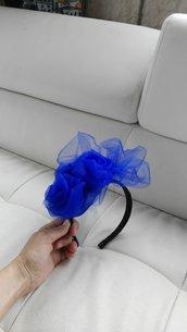 Kate Middleton fascinator blu royal
