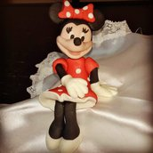 Topper Minnie in Pasta di Zucchero