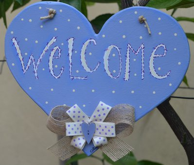"Cuore  Pittura country "" Welcome """
