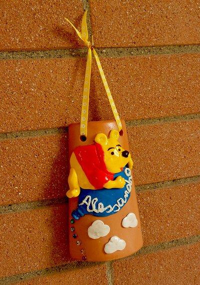 Tegolina con orsetto personalizzata con il nome