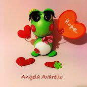 Tutorial, pattern, cartamodelli, ranocchia Froggy, gomma crepla, fommy, PDF, g