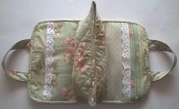 Beauty case in stoffa fatto a mano