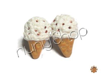Orecchini cono gelato (perno)