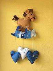 fiocco nascita cavallino a dondolo