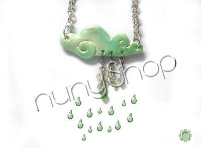 Collana Rainy Day (verde)