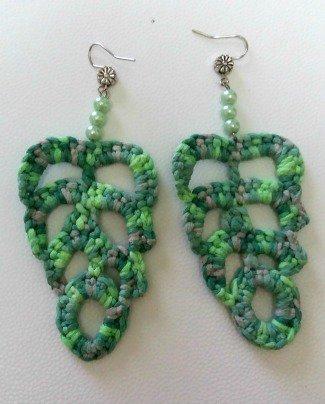 orecchini foglie stilizzate
