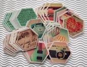 Mix Fustellati Grandi in Fantasia Vintage - Lotto per scrapbooking e Cardmaking (50pz)