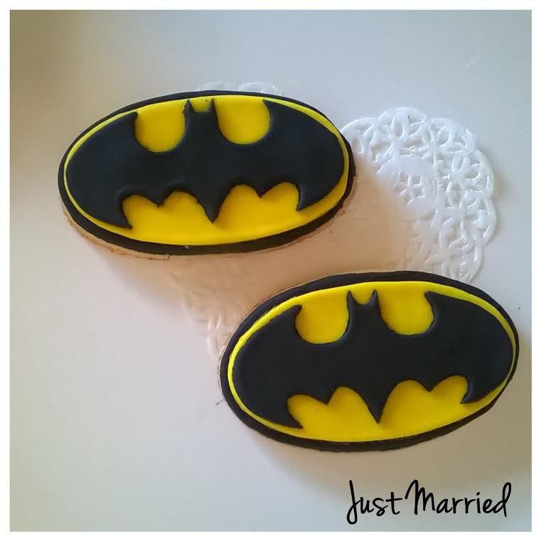 biscotti decorati logo di batman