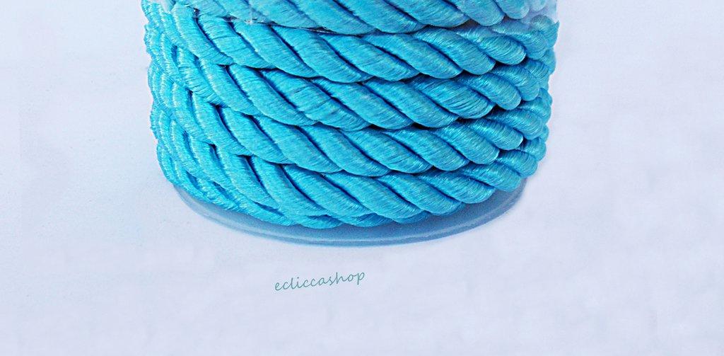 Cordoncino ritorto colore Turchese da 4-5 mm 1.5 M